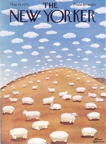 New Yorker Magazine Cover World Map