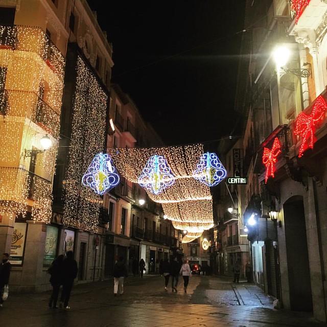 Calle Comercio en Navidad
