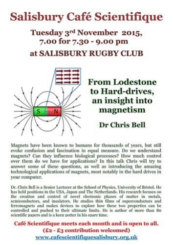 Poster for Dr Chris Bell