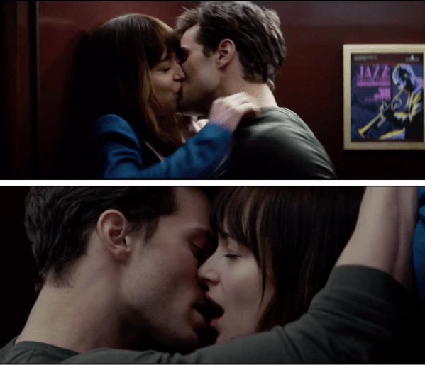 The famous elevator scene in Fifty Shades Of Grey. (Photo credit: rockpaperwatchfiles.wordpress.com)