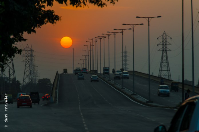 Sunset In Gurgaon