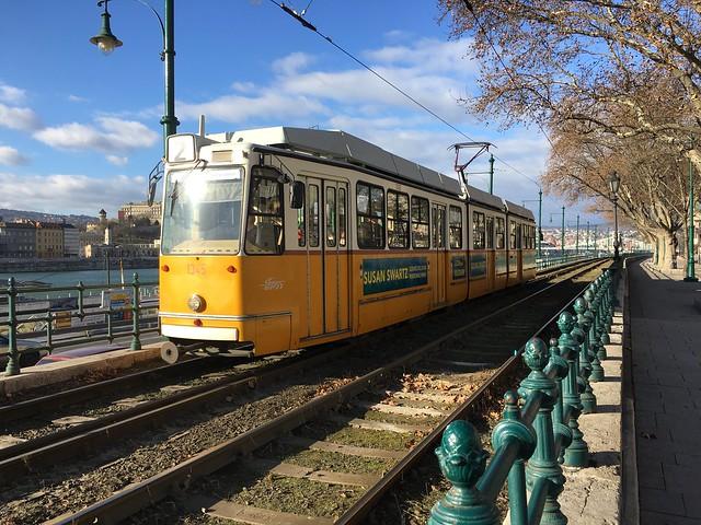 A pretty tram in Budapest