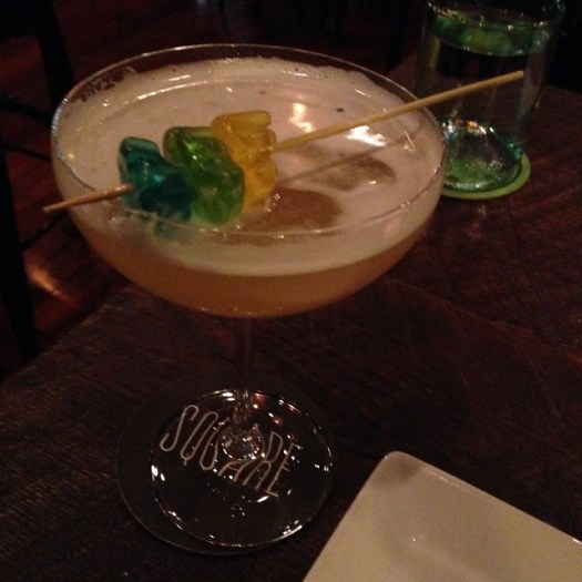 Cocktail with Champagne Gummies at Root, New Orleans