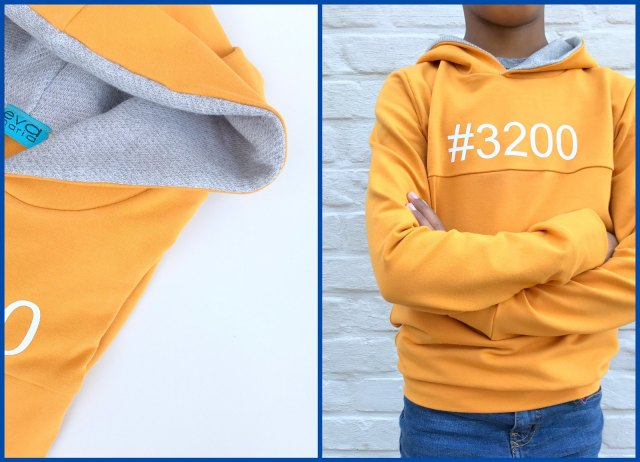 yellow hoodie (collage)