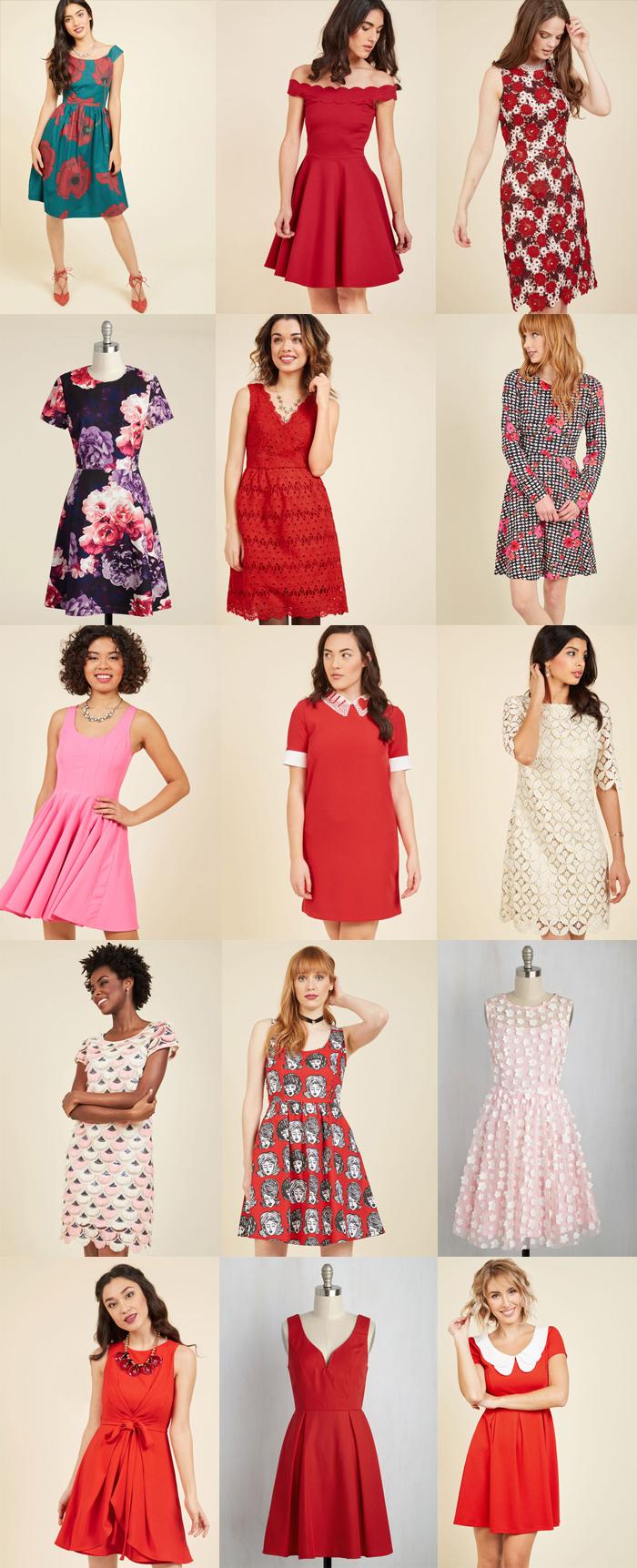 modcloth valentines dresses