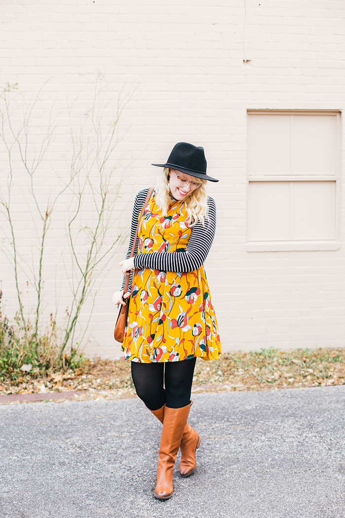 austin style blog tissue turtleneck layered modcloth dress6
