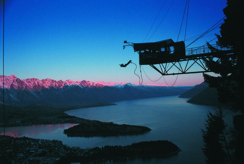 Queenstown bungy jump sunset