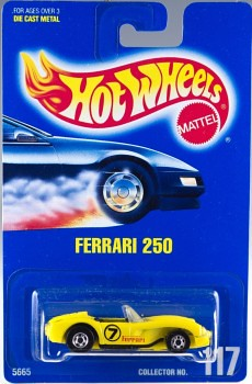 1991 Hot Wheels Ferrari 250 Collector Number
