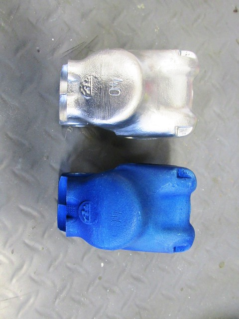 Blasted Caliper (Top) and Anodized Caliper (Bottom)