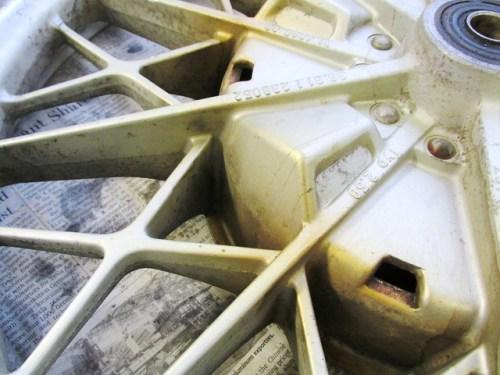 Rear Wheel Discoloration