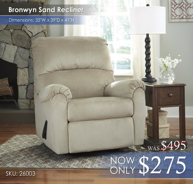 Bronwyn Sand Recliner 26003-61-T007-527