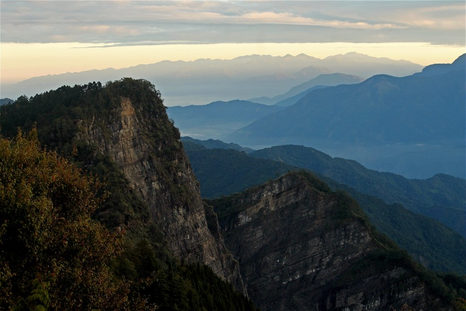 Sunrise at Alishan National Scenic Area