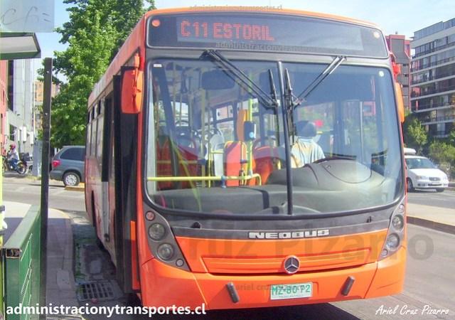 Transantiago C11 | Redbus | Neobus Mega - Mercedes Benz / MZ8072