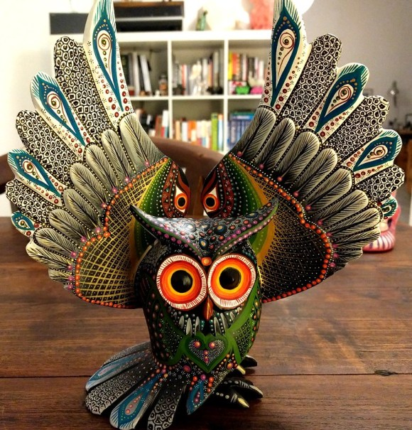 Part of our haul: This owl from the gallery of Jacobo and Maria Angeles