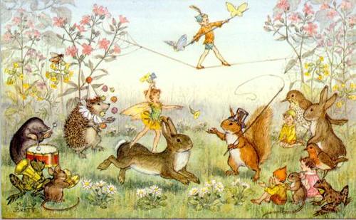 Molly Brett Fairies And Animal Circus Salta Pocinhas