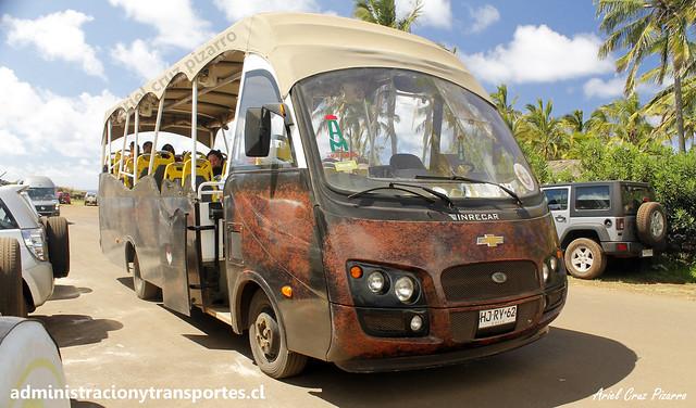 Bus Ara Moai (Maururu Travel)   Anakena   Inrecar Géminis - Chevrolet / HJRY62