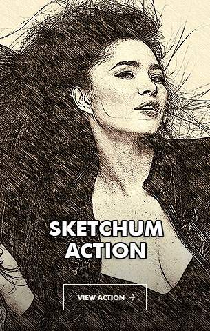Special Sketch Photoshop Action - 100