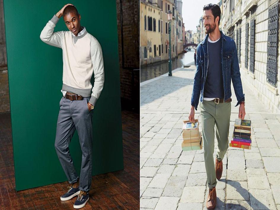 Los pantalones para hombres altos deben ser de corte recto