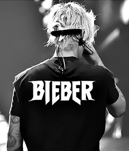 Justin Bieber logo by Mark Riddick