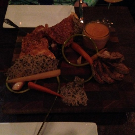 Charcuterie with (my fave) Chicken Liver Pate at Root, New Orleans