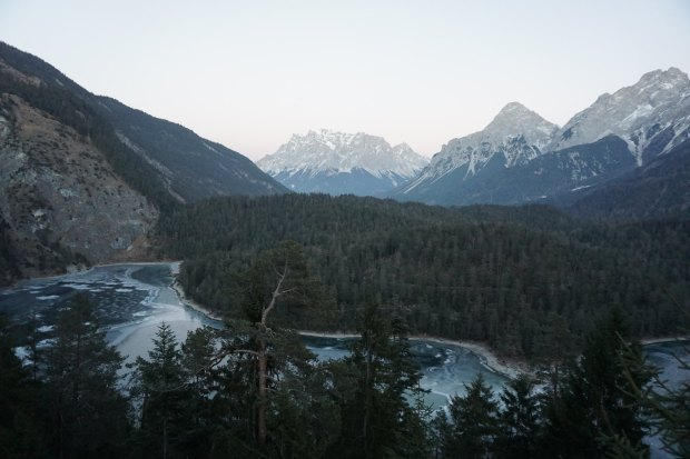 View of Zugspitze from Austria