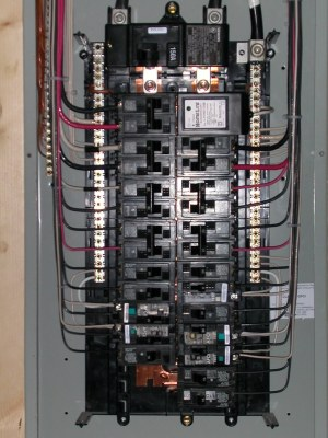 Electrical closeup | Siemens 3040 150A Main Breaker panel