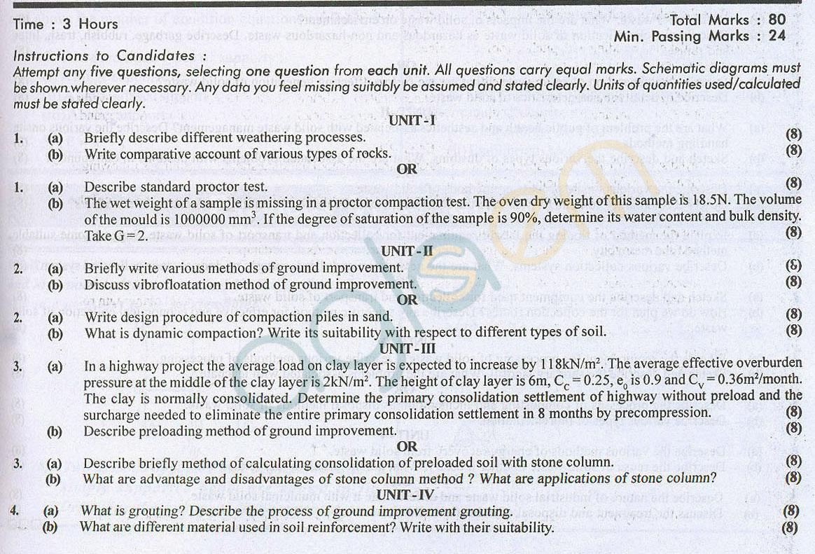 RTU: Question Papers 2014 – 5 Semester - CE - 5E5066