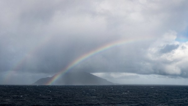 Double Rainbow at Saba Island