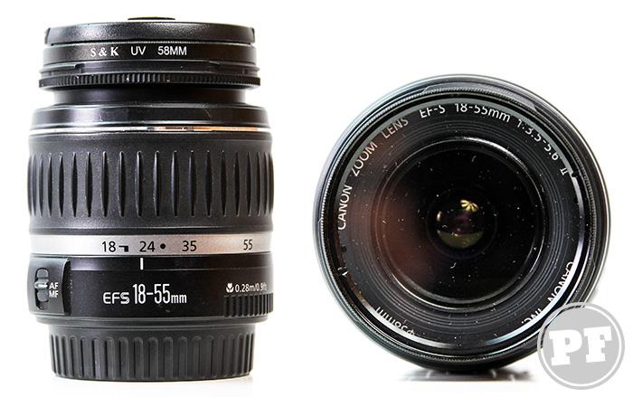 Equipamentos: Lente Canon EF-S 18-55mm f/3.5-5.6 por PratoFundo.com