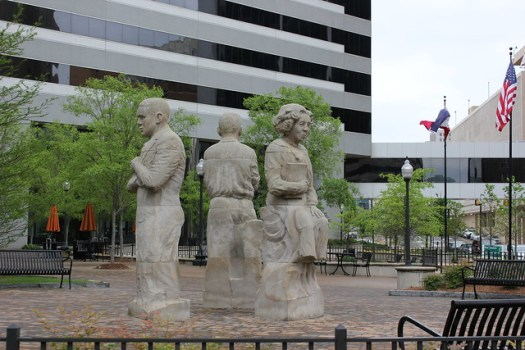 The Storytellers: Eudora Welty, Richard Wright, William Faulkner sculptures at Pinnacle, Jackson MS