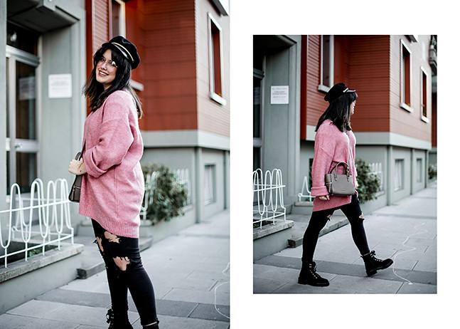 maxi-jersey-rosa-hm-pantalones-rotos-botas-terciopelo-stradivarius-carmen-acosta-streetstyle