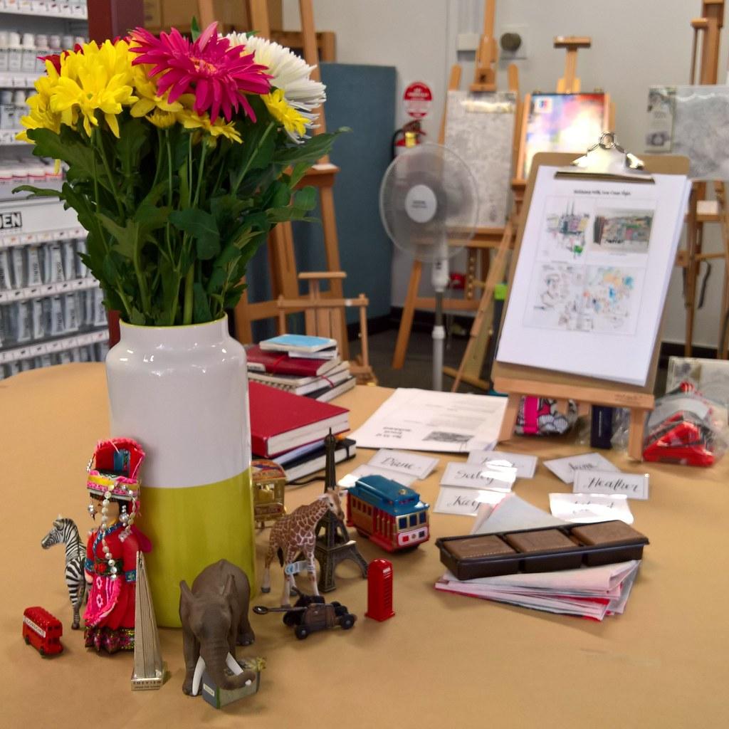 Expressive Travel Sketching Workshop Adelaide - Setup
