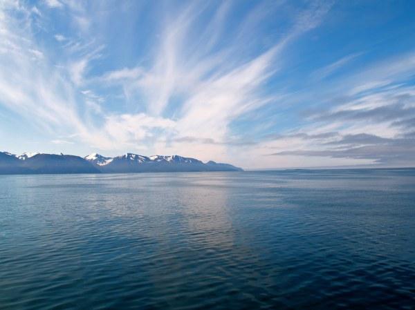 Blue sea | Sea north of Húsavík off the coast of northern ...