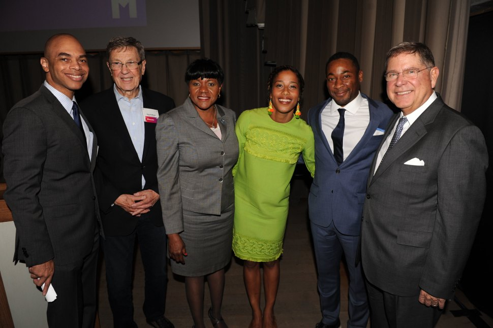 Barron Channer, Aaron Podhurst,, Audrey Edmonson, Aja Monet, Franklin Sirmans, & Alberto Ibarguen at Fourth Annual Reception for the PAMM Fund for African American Art