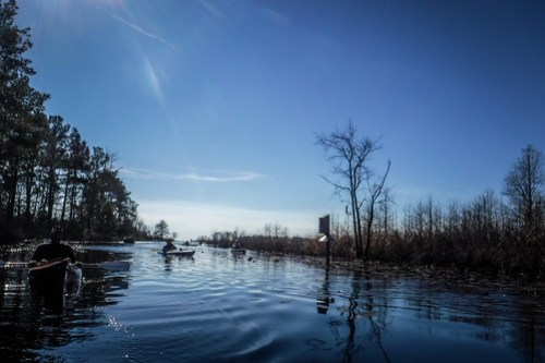 Lake Moultrie and Santee Canal with LCU-53