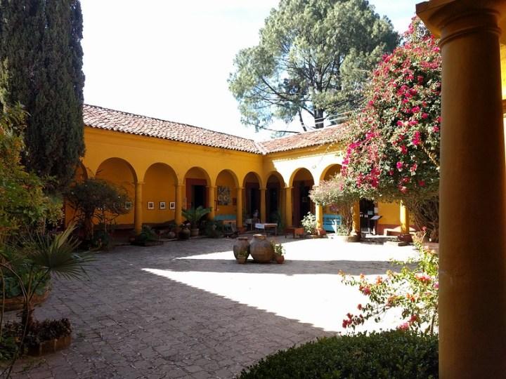 Na Bolom's beautiful courtyard