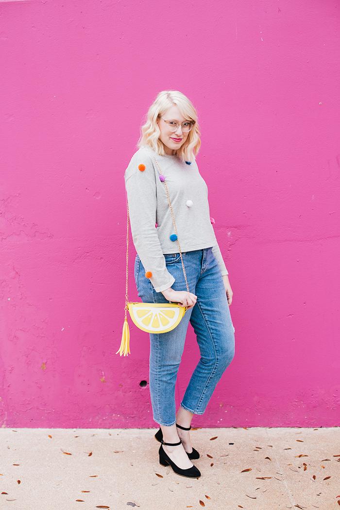 austin fashion blogger pom pom sweater1