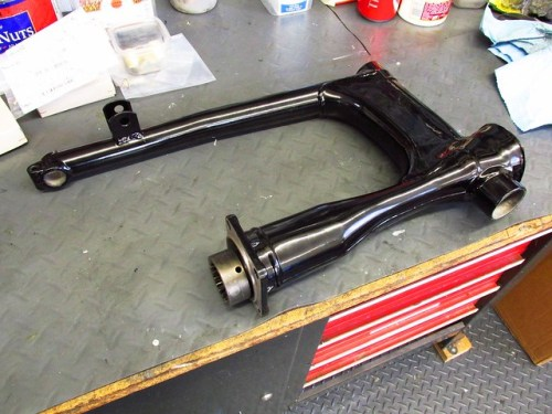 Drive Shaft Installed in Swing Arm