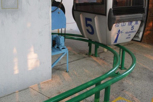 Top station of the Guia Hill cable car