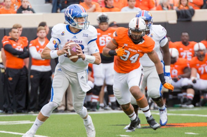 Image result for Oklahoma State Cowboys vs. Kansas Jayhawks