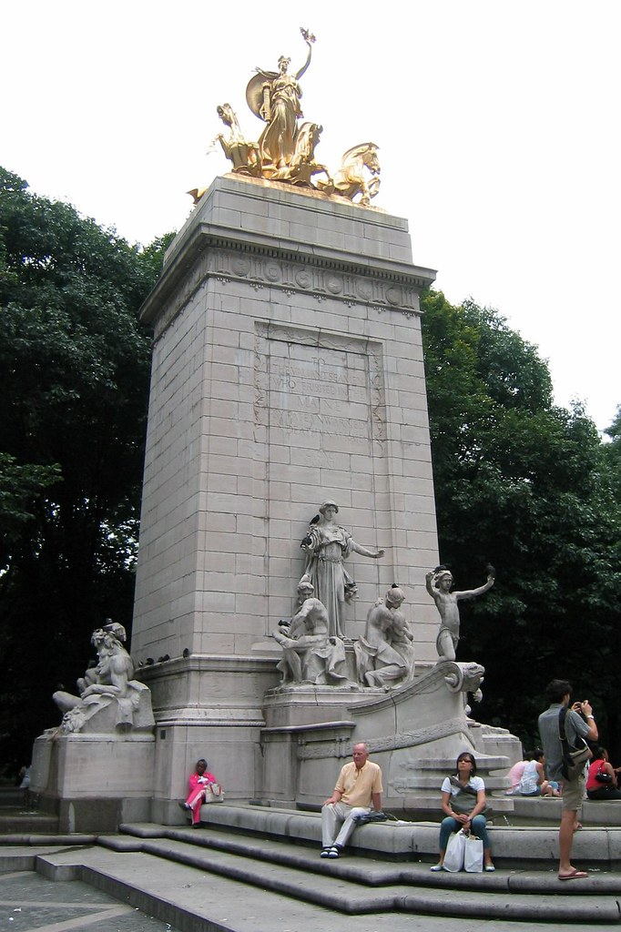 Nyc Central Park Maine Monument The Maine Monument