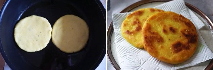 Gluten free arepas making process