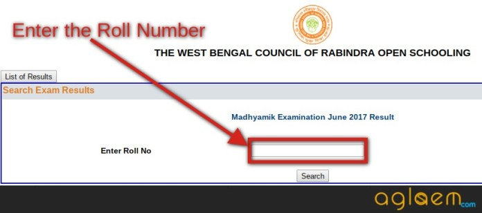 Rabindra Open School Madhyamik 2018 Result