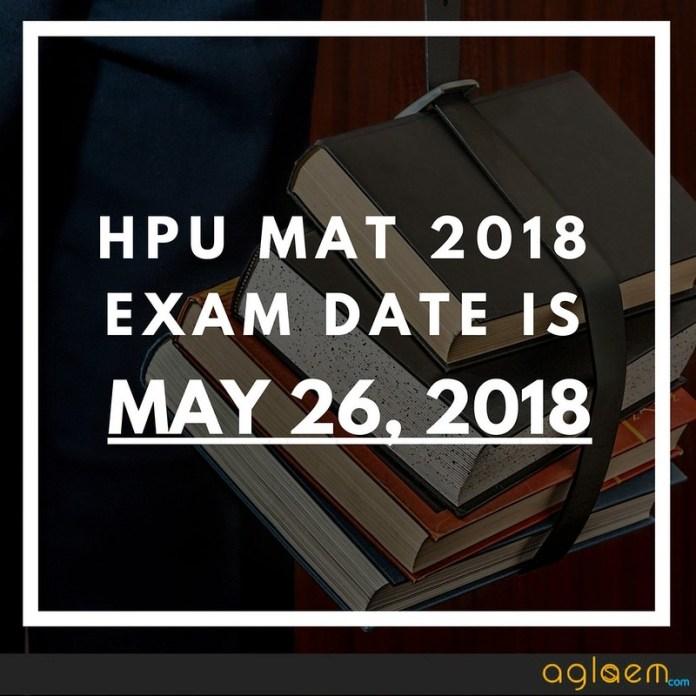 HPU MAT 2018 Exam Date