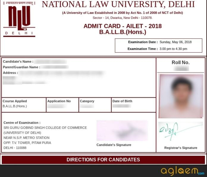 AILET 2018 Admit Card Released (nludelhi.ac.in) – Download Here AILET Hall Ticket  %Post Title   AglaSem