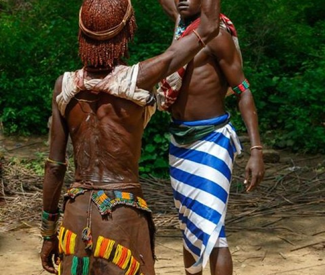 Women From The Hamar Tribe Are Whipped To Show Their Love For Men Going Through Rite