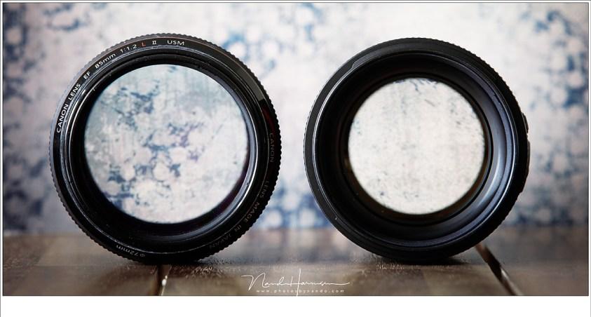 Het blijft indrukwekkend, die grote lensopening van de f/1,2 versie. Maar ook de f/1,4 versie is enorm te noemen.