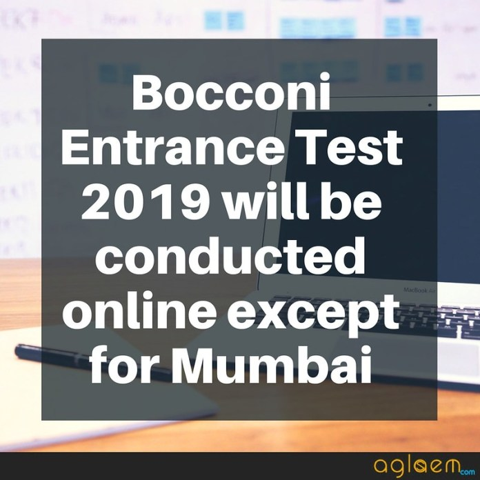 Bocconi Entrance Test (BET) 2019