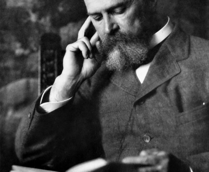 William James leyendo (1895).