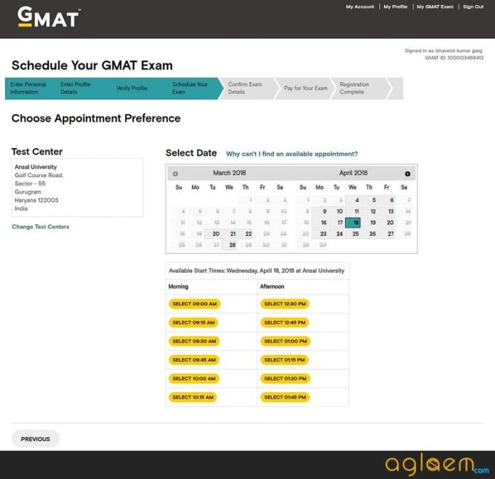 GMAT 2018 Exam Date
